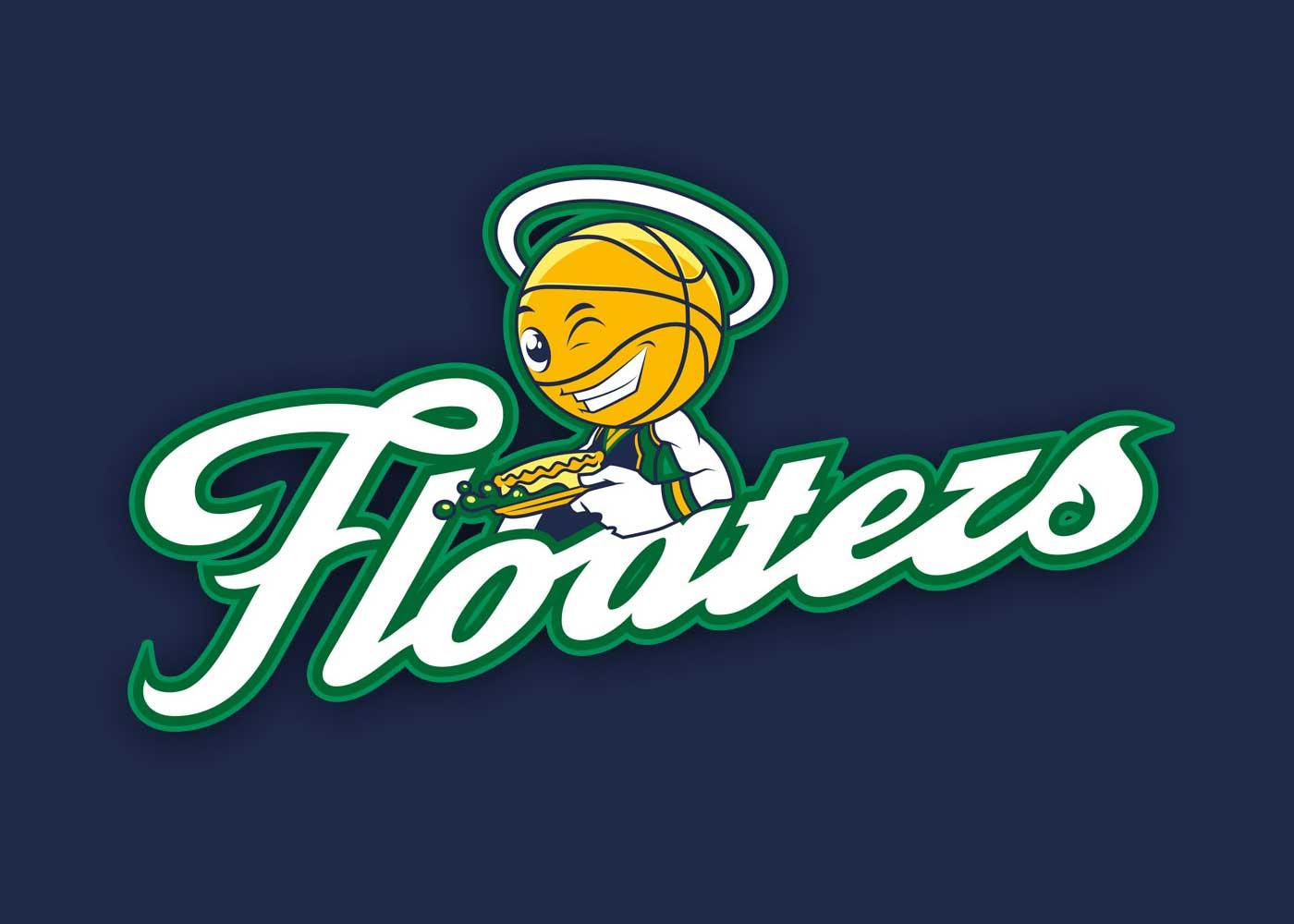 Floaters social basketball team logo